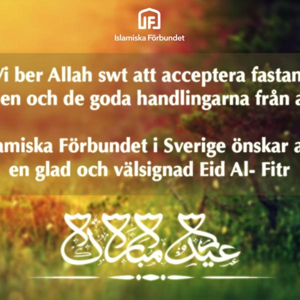 En välsignad och glad Eid Al-Fitr