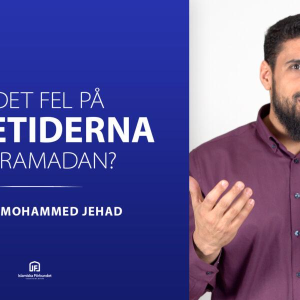Är det fel på bönetiderna för Ramadan?